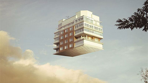 神奇的房屋,发生地震就飞起